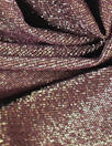 NY designer raisin/gold metallic rayon jersey 4-way