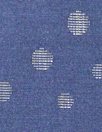 Tah@ri clipped jacquard dot voile - navy