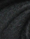 NY designer 'furry' wool blend coating - black