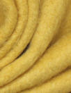 NY designer 'furry' wool blend coating - yellow curry