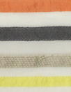 CA designer poly/nylon yarn-dye striped organza 1.33 yd