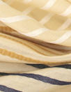 Italian visc/silk/cotton yarn-dye striped voile