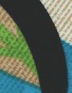 'deco-leaf drama' viscose woven - turquoise/lime