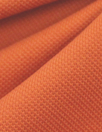 Italian pique stitch all cotton knit - spicy orange