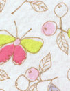 CA designer berries and butterflies cotton knit