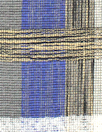 famous designer fancy weave textured plaid - blue