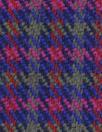 NY designer stretch yarn dyed plaid - rose/navy