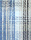 Steven A1an yarn-dye plaid cotton shirting - blue/gray