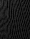 CA designer circular tube accordion pleat viscose - black