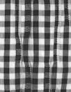 NY designer pleated stretch black/white gingham woven