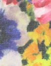 Italian 'garden in bloom' polysilk stretch chiffon 1.66 yd
