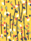 teeny flowers drapey lightweight woven - yellow