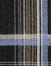 Italian tawny/iris yarn-dyed jacquard plaid shirting