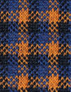 Rag and B0ne yarn dyed plaid doubleknit - navy/orange