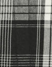 CA designer crinkle viscose blend black/white plaid