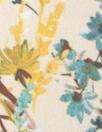 Derek L@m vintage floral poly twill woven - butter