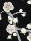 evening blossoms poly 'silk' woven - black/taupe