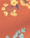 Caroline C0nstas floral polysilk charmeuse - chili