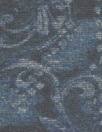 mosaic scroll ponte - blue/teal/gray