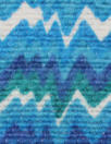 French radio waves print cotton blend woven