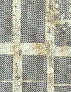 Italian printed wool twill weave 'denim' - golden grid