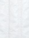 vertical stripe 'puffer' jacketwear - white