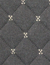 quilted diamond 3-ply knit - black/khaki