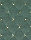 quilted diamond 3-ply knit - pine/stone