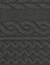 quilted cable matelasse' knit - black