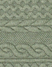 quilted cable matelasse' knit - seagrass