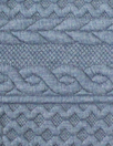 quilted cable matelasse' knit - denim