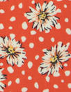 floral dot drapey viscose woven - fiesta red