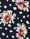 floral dot drapey viscose woven - midnight
