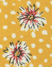floral dot drapey viscose woven - sunshine
