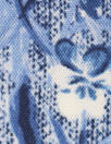 blue jeans floral drapey viscose woven