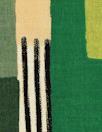 'crosspatch' viscose woven - greens