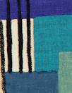'crosspatch' viscose woven - blue/aqua