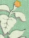 mint botanical rayon/linen woven