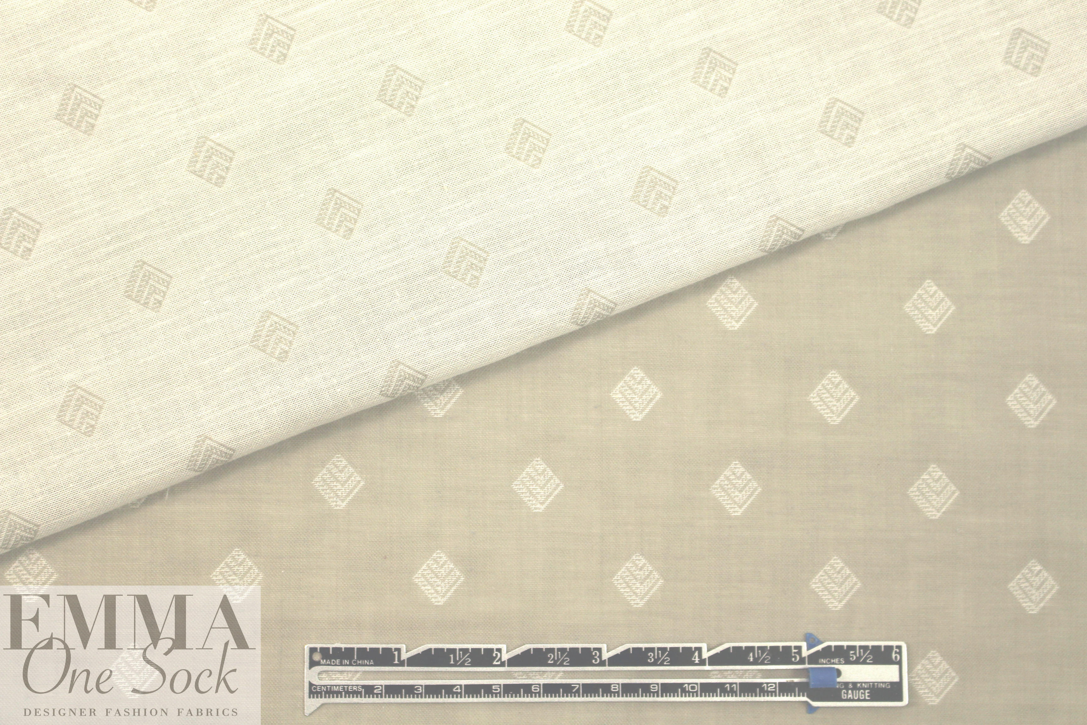 05737f793aa7bb Italian cotton 2-ply jacquard woven - khaki from EmmaOneSock.com