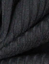 poly/viscose blend 3x3 ribbed knit - black