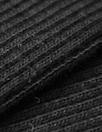 bamboo/cotton circular tube ribbing - black Oeko-Tex cert.