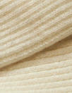 oeko-tex cert. bamboo/cotton circular tube ribbing - ivory