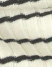 CA designer 6x2 rib stripe cotton knit - black/natural