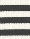 variable 3x2 rib stripe rayon/span knit - black/white