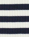 variable 3x2 rib stripe rayon/span knit - navy/white