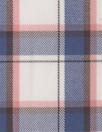 Br00ks Bros. yarn-dyed plaid cotton shirting - denim/blush