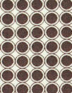 French mod chocolate dot cotton shirting