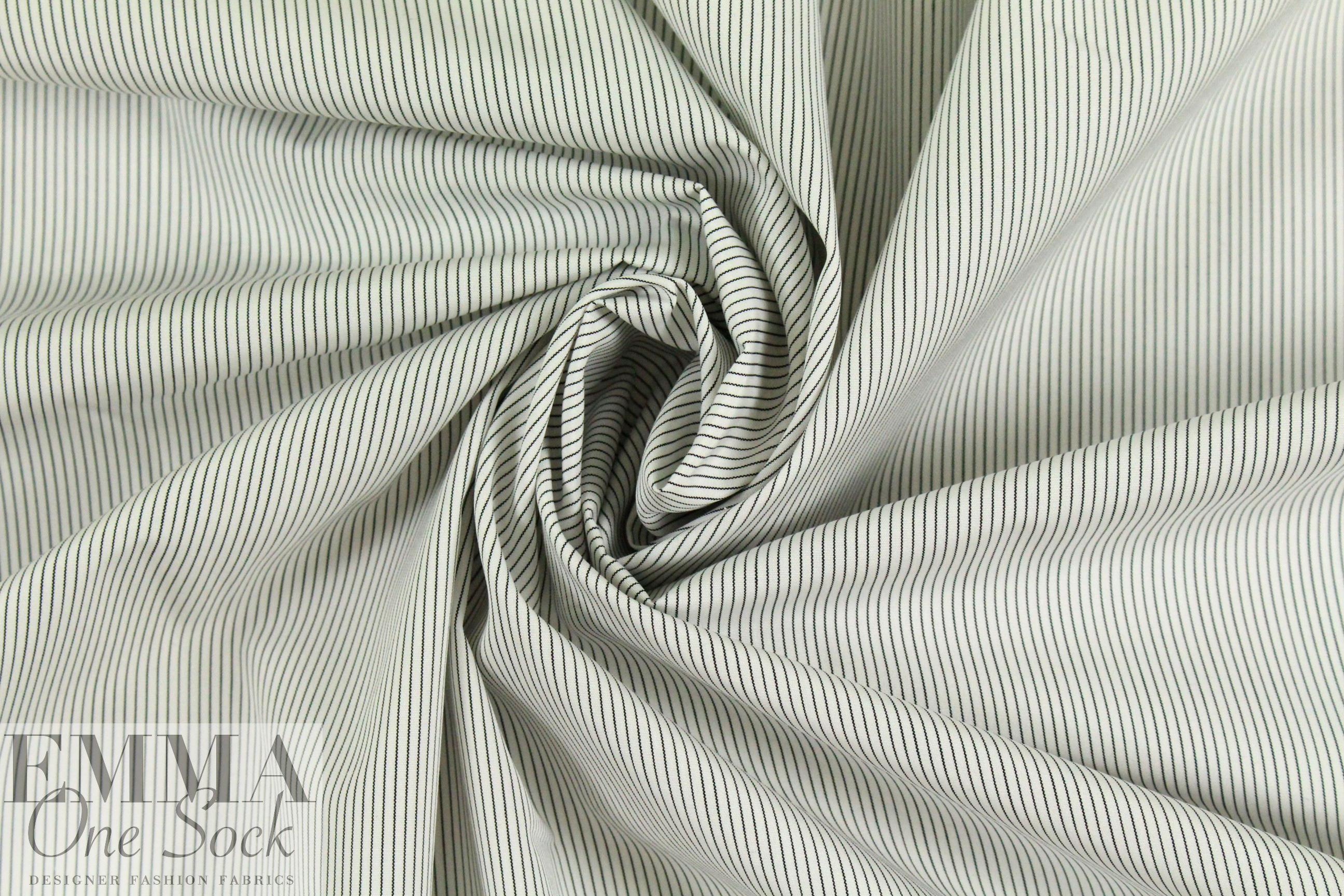 Italian tiny stripe yarn-dyed cotton shirting from