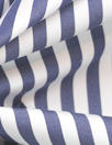 Italian yarn-dye stripe cotton shirting - dk. navy/white