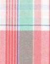 French yarn-dyed plaid cotton shirting - watermelon